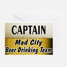 Mad City Beer Drinking Team Greeting Card