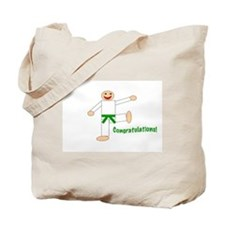 Green Belt Congratulations Tote Bag