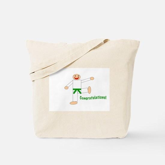 Green Belt Congratulations Tote Bag
