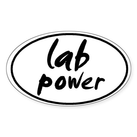 Lab POWER Oval Sticker