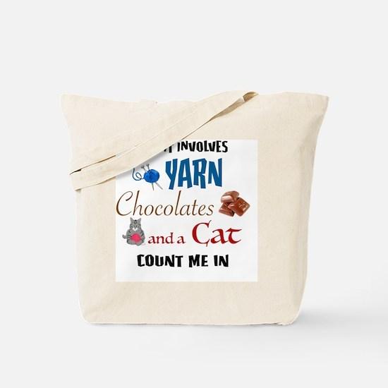 Unique Knitting cat Tote Bag