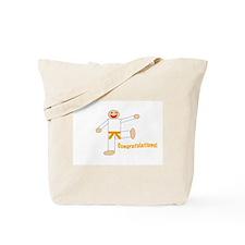 Martial Arts Congratulations Orange Belt Tote Bag