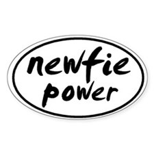 Newfie POWER Oval Decal