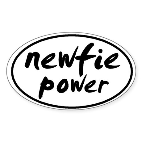 Newfie POWER Oval Sticker