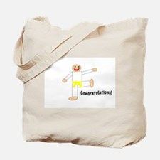Martial Arts Congratulations Yellow Belt Tote Bag