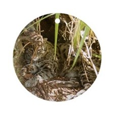 Fishing Cat Ornament (Round)