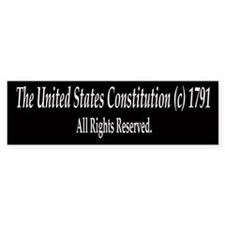 The United States Constitution - Bumper Bumper Sticker