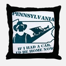Vintage Pennsylvania Throw Pillow