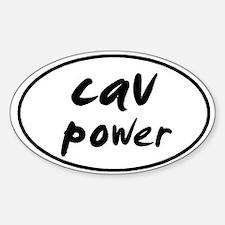 Cav POWER Oval Decal
