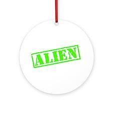 Alien Stamp Ornament (Round)