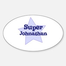 Super Johnathan Oval Decal