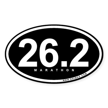 Marathon 26.2 Oval Sticker (10 pk)