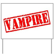 Vampire Stamp Yard Sign