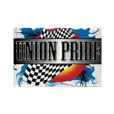 Racey Union Pride Rectangle Magnet