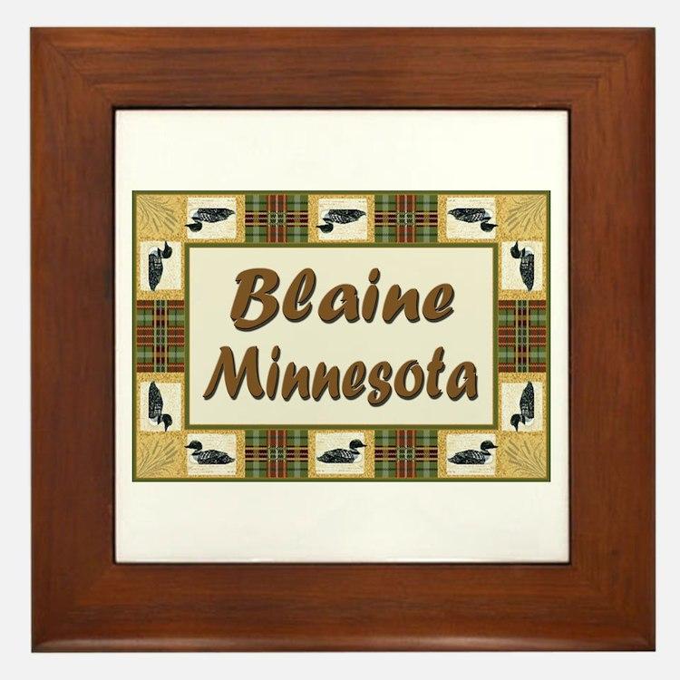 Blaine Loon Framed Tile