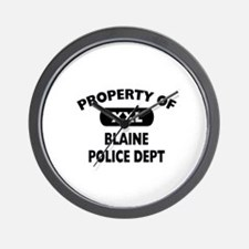 Property of Blaine Police Dept Wall Clock