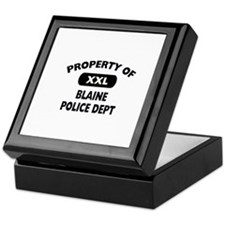 Property of Blaine Police Dept Keepsake Box