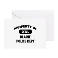 Property of Blaine Police Dept Greeting Card
