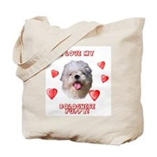 Bolognese puppy love Tote Bag