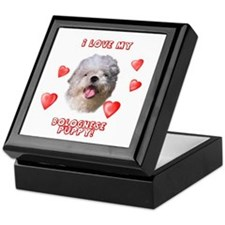 Bolognese puppy love Keepsake Box