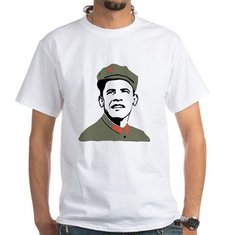 Obama Mao White T-Shirt
