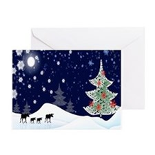 Xmas Moose Greeting Cards (Pk of 10)