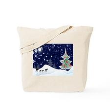 Xmas Moose Tote Bag