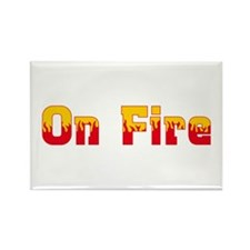 On Fire Rectangle Magnet