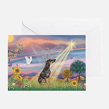 Cloud Angel - Dobie (B) Greeting Card