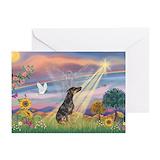 Doberman pinscher rainbow bridge Greeting Cards (20 Pack)
