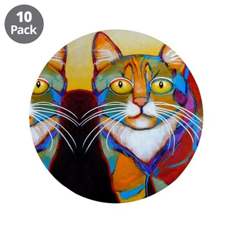 """Cat-of-Many-Colors 3.5"""" Button (10 pack)"""
