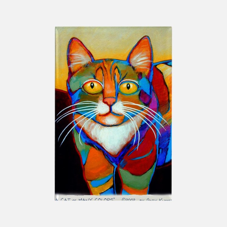 Cat-of-Many-Colors Rectangle Magnet
