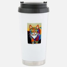 Cat-of-Many-Colors Stainless Steel Travel Mug