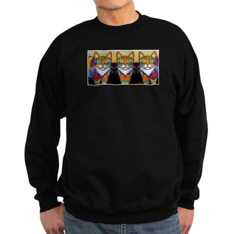 Cat-of-Many-Colors Sweatshirt (dark)