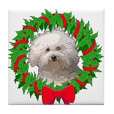 Bolognese Christmas Tile Coaster