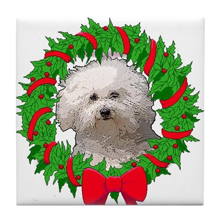Bolognese Christmas Tile Coaster