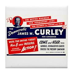 James Michael Curley Tile Coaster
