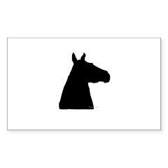 Shadow Horse Head Rectangle Sticker 10 pk)