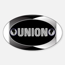 UNION -B Oval Decal
