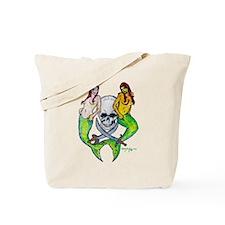 Pirate Mermaid Pin-up Tote Bag