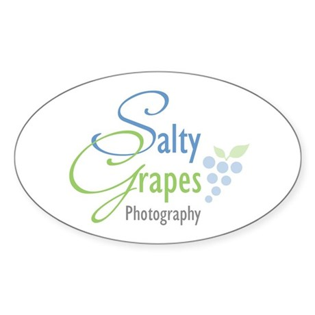 Salty Grapes Oval Sticker