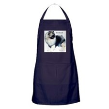 Cute Keeshonds Apron (dark)