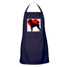 Cute Red standard poodle Apron (dark)