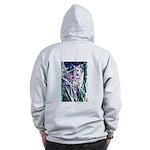 Colorful Cat Zip Hoodie