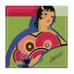 Alluring Gypsy Dancer Tile Coaster