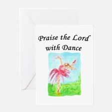 Praise the Lord with Dance Christian Greeting Card