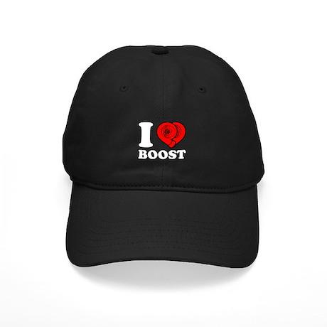 I Heart Boost Black Cap