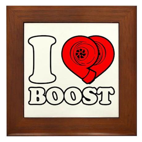 I Heart Boost Framed Tile