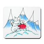 polar bear and penguins Mousepad