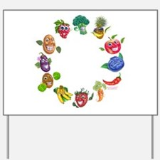 vegetables and fruits Yard Sign